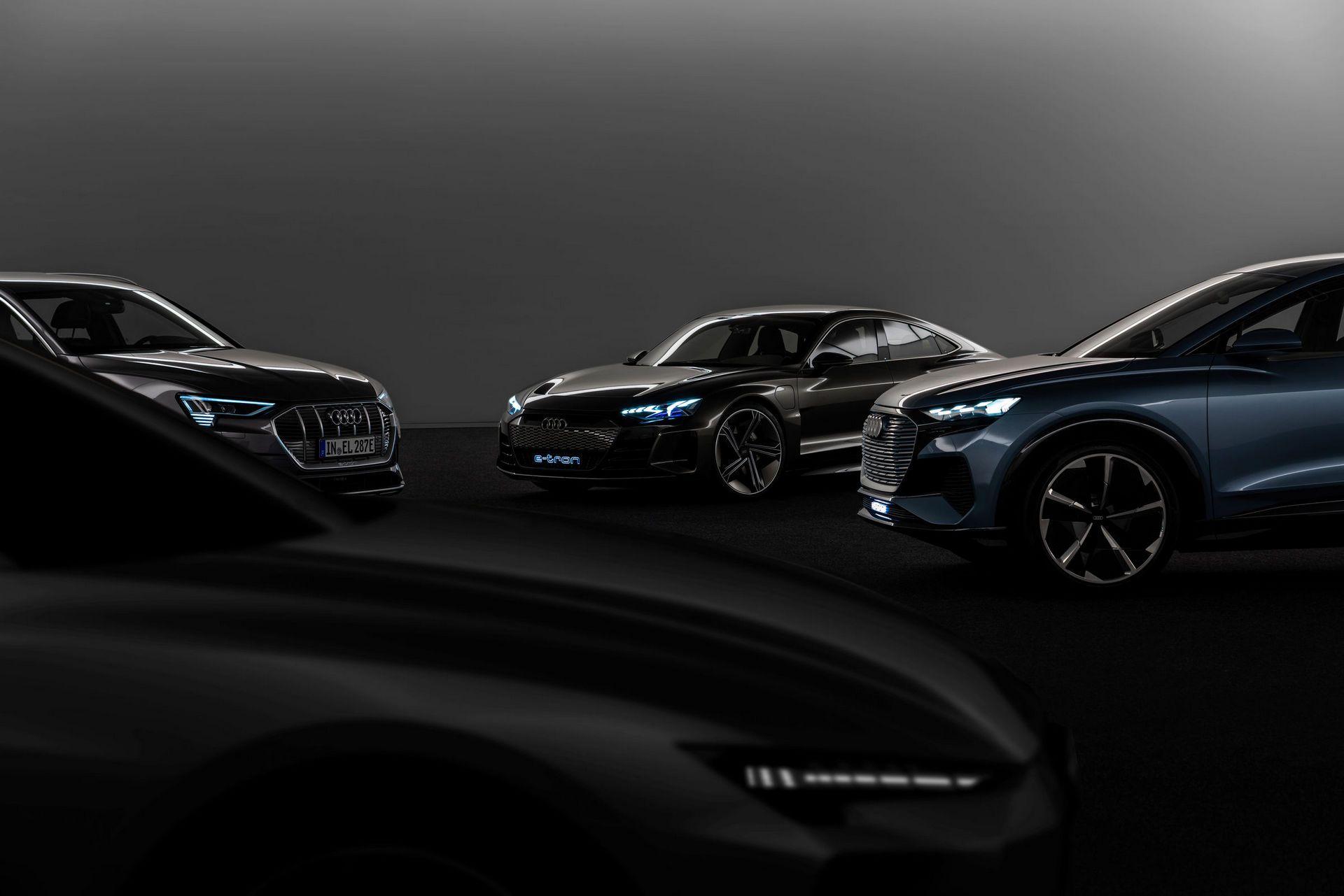 Четыре электрифицированные платформы Audi
