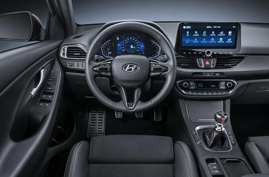 интерьер Hyundai i30 N-line